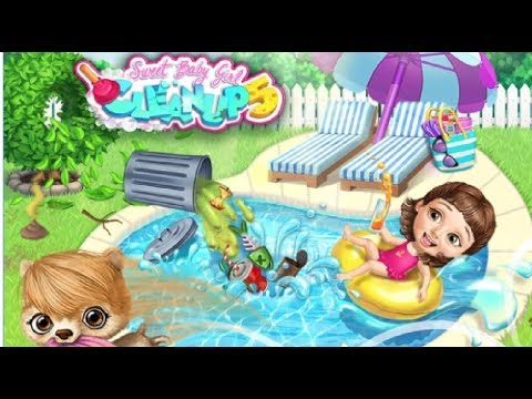 Play Sweet Baby Girl Cleanup 5 - Fun Girl Care Kids Games Part 3