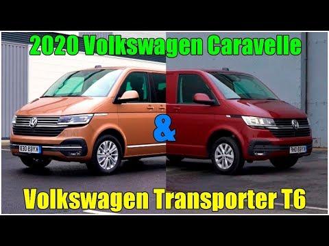 2020 Volkswagen Caravelle & Volkswagen Transporter T6 фургоны обзор