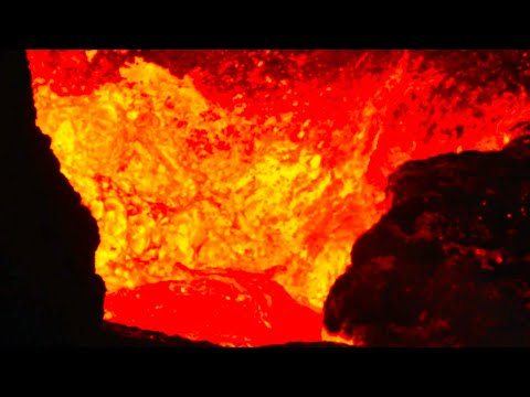 GATE OF HELL!!! CLOSE-UP ON VOLCANO ACTIVE CRATER - ICELAND VOLCANO ERUPTION - May 19, 2021