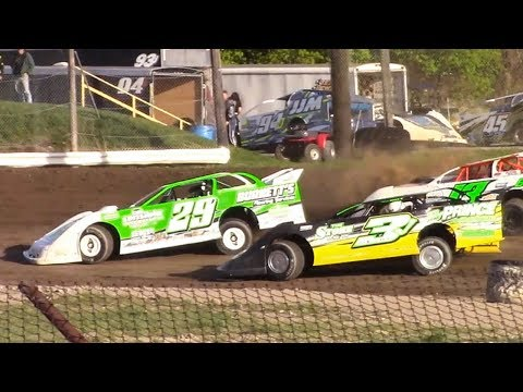 RUSH Crate Late Model Heat Two | Genesee Speedway | 5-12-18