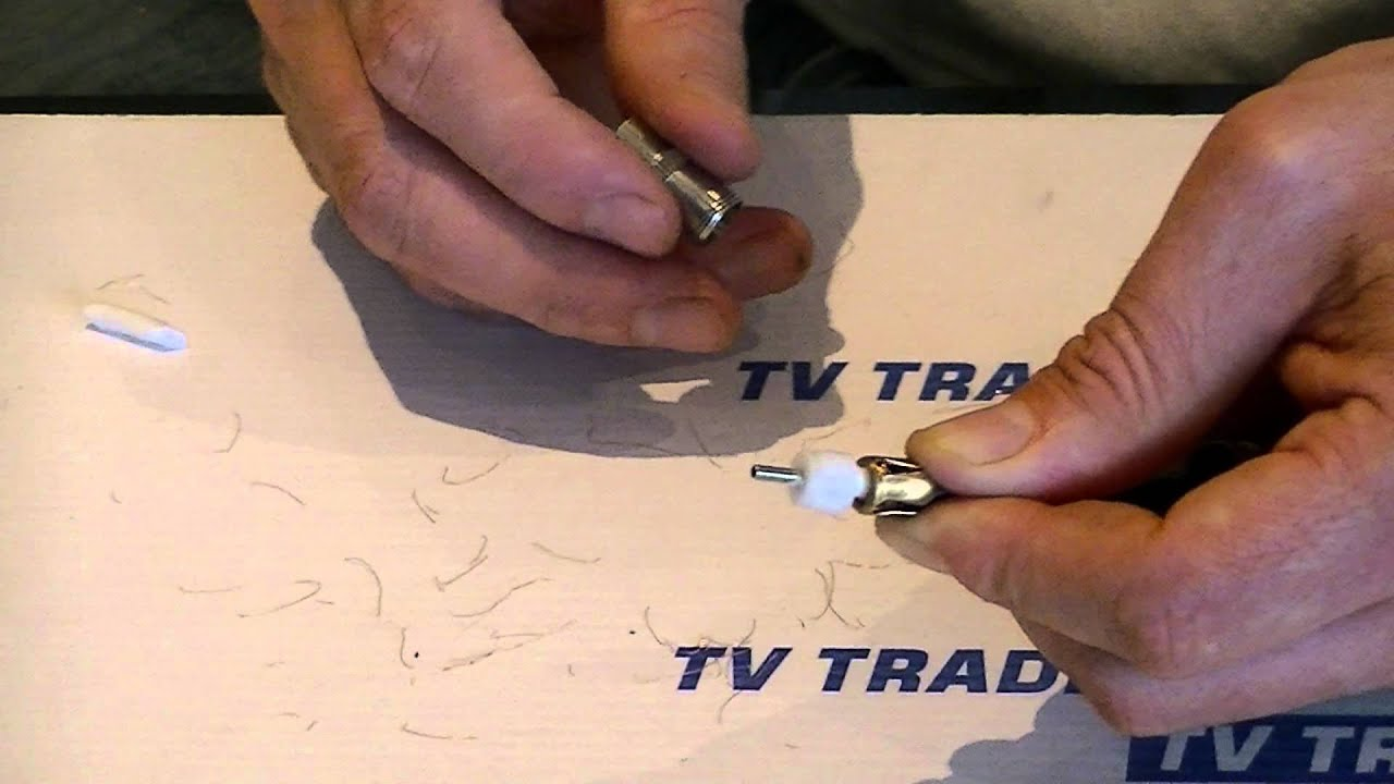 How To Put On A Coaxial Connector On A Tv Aerial Cable