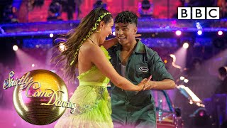 TV host Karim impresses judges in dance contest's opening live show | Karim and Amy - BBC Strictly
