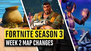 Fortnite | All Season 3 Map Updates and Hidden Secrets! WEEK 2