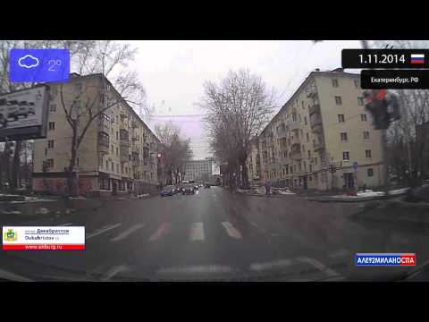 Driving through Yekaterinburg (Russia) 1.11.2014 Timelapse x4