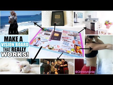 How To Make a Vision Board that REALLY Works! Step By Step Guide! | 2018 Vision Board