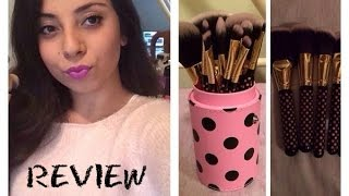 bh cosmetics pink a dot brush set review