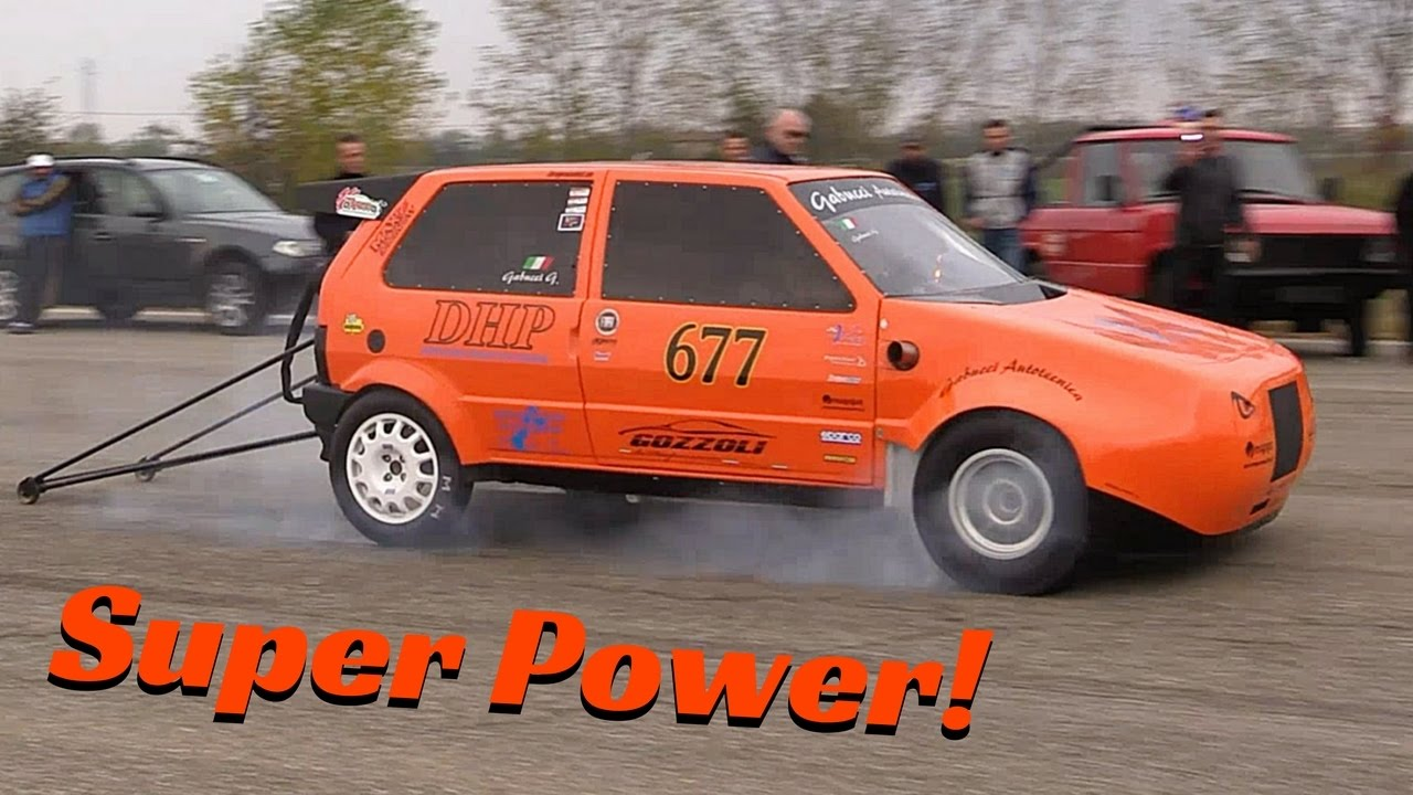 CRAZY 600 HP Fiat Uno Turbo Drag Racing by Gabucci Autotecnica - SUPERPOWER!!!