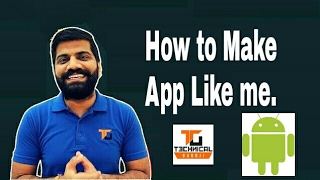 Video How to create App Like Technical Guruji. Make a app for Your youtube channel and website. download MP3, 3GP, MP4, WEBM, AVI, FLV Juni 2018