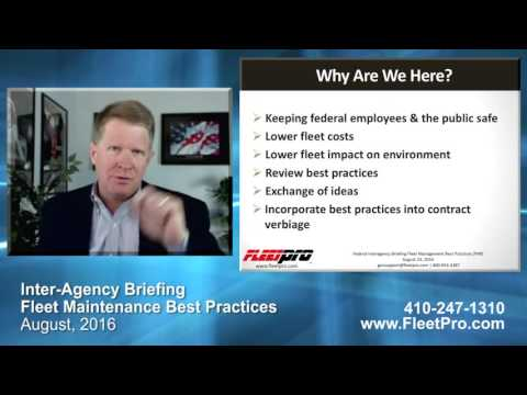 Federal Procurement Briefing – Best Practices – Fleet Preventive Maintenance & Inspection (PMI)