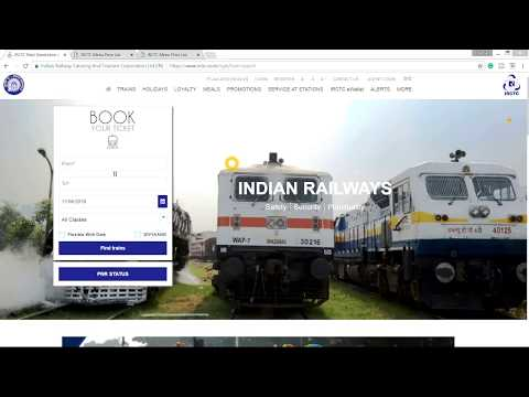 HOW TO BOOK TICKETS ON NEW IRCTC WEBSITE | HOW TO USE IRCTC NEW WEBSITE | IRCTC NEW WEBSITE 2018.