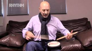Steve Smith shows Rhythm magazine some chops