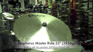 """Bosphorus Master Ride 22"""" (1956g) - 247drums SR (Sound Review) BWYH (Buy What You Hear)"""