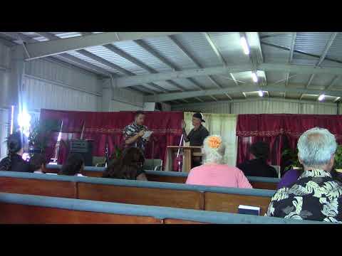 Steven Jenkins Singing With Primitive Equipment In Hawaii