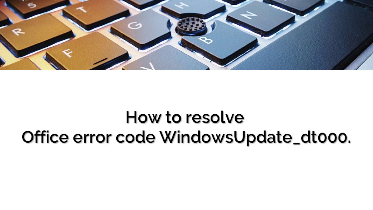 Errore windowsupdate dt000 update bios from windows recovery console