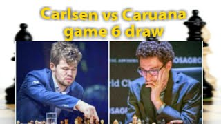 magnus carlsen barely saves draw as fabiano caruana misses a win in Game 6 thriller #carlsencaruana