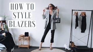 Blazer Outfit Ideas | How To Style Blazers 👟 1 BLAZER, 9 OUTFITS!