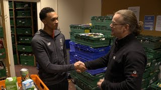 Trent Alexander-Arnold helps launch Christmas foodbank appeal