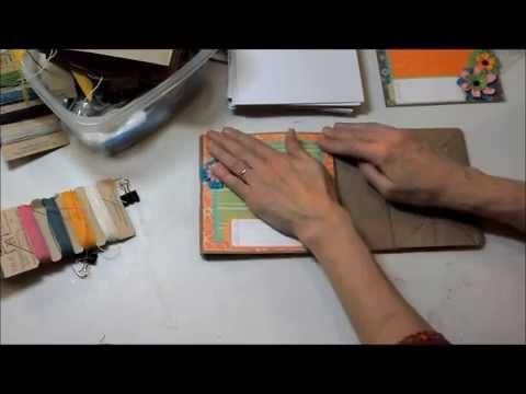 Constructing paper bag albums!