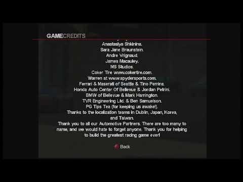 Project Gotham Racing 2 - Credits