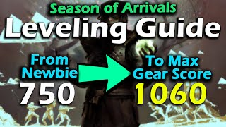 Destiny 2 - Season of Arrivals - How to Reach Max Level - Max Gear Score - Powerful & Pinnacle Gear