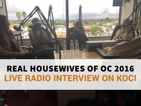 Real Housewives of OC 2016 Radio Interview on KOCI Newport Beach, Ca Filmed By JoshBoisTV