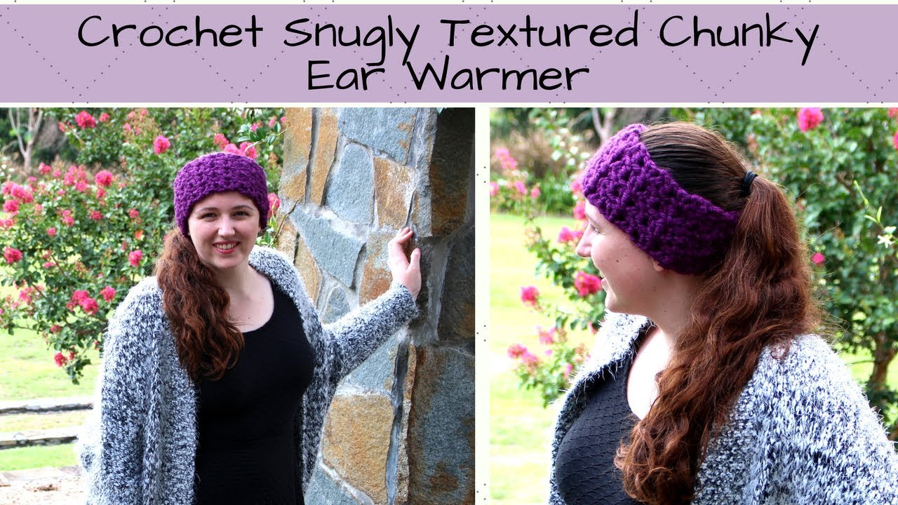 Crochet Textured Ear Warmer - Crochet Textured Chunky Ear Warmer ...