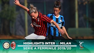INTER 1-3 MILAN | INTER WOMEN HIGHLIGHTS | #DerbyMilano Edition with a stunning goal from Marinelli