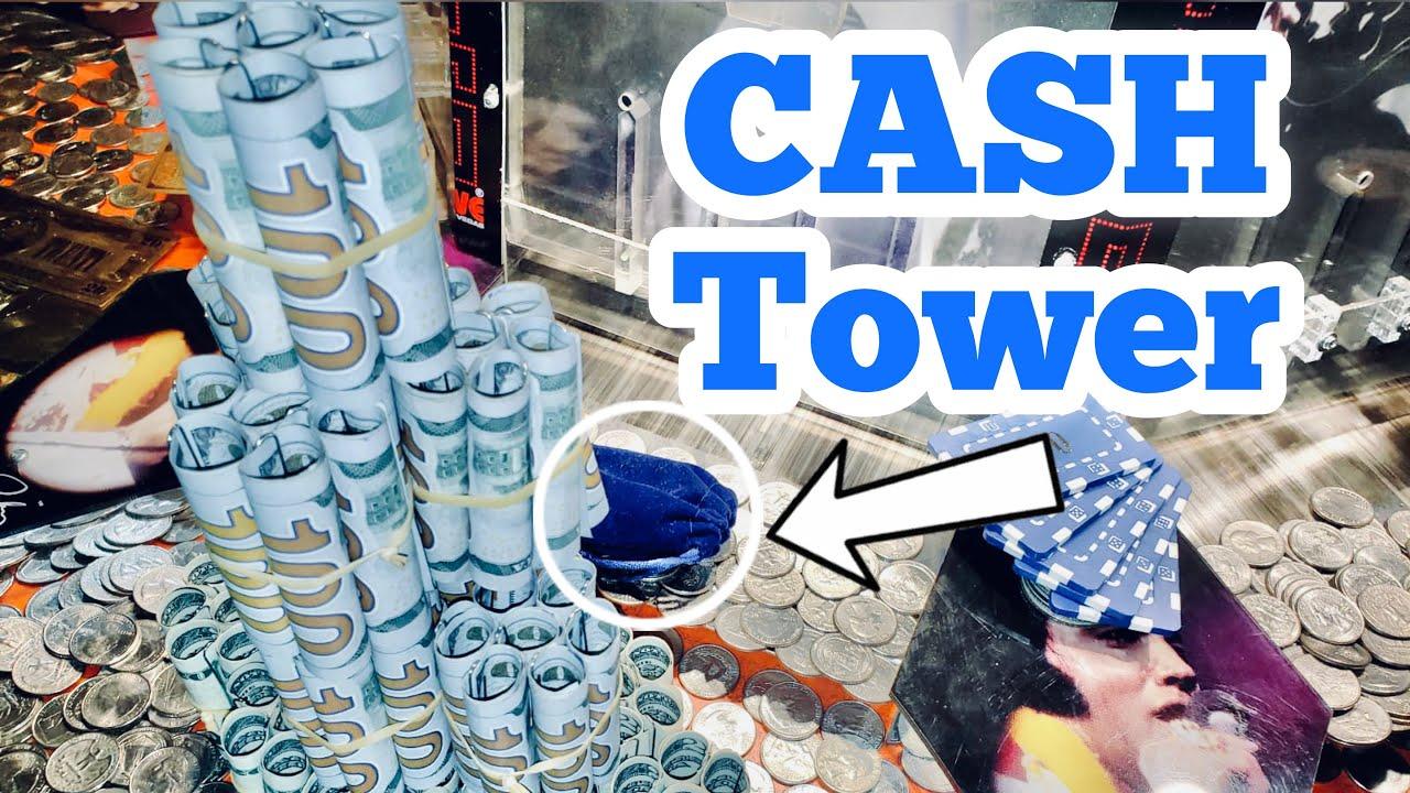 CASH TOWER Inside The High Limit Coin Pusher Jackpot WON MONEY ASMR