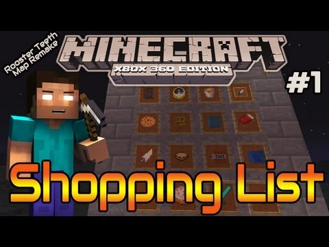 """MineCraft Xbox Mini-Game: """"Shopping List"""" #1   Give Me My Stuff Back! (Map Download)"""