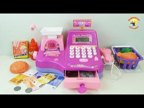 Кассовый аппарат - детский игровой набор для девочек / Cash Register - Children's Set For Girls