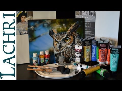 My  top 11 favorite acrylic painting supplies - Supply list from Lachri