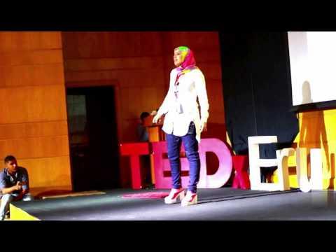 Needle and Feather (إبرة و ريشة) | Hadeer Amin | TEDxERU