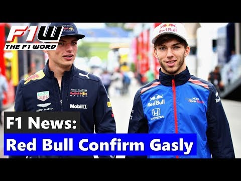 F1 News: Red Bull Confirm Gasly