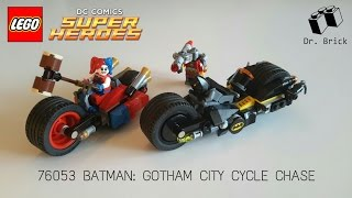 LEGO DC COMICS SUPER HEROES / 76053 BATMAN: GOTHAM CITY CYCLE CHASE / STOP MOTION SPEED BUILD