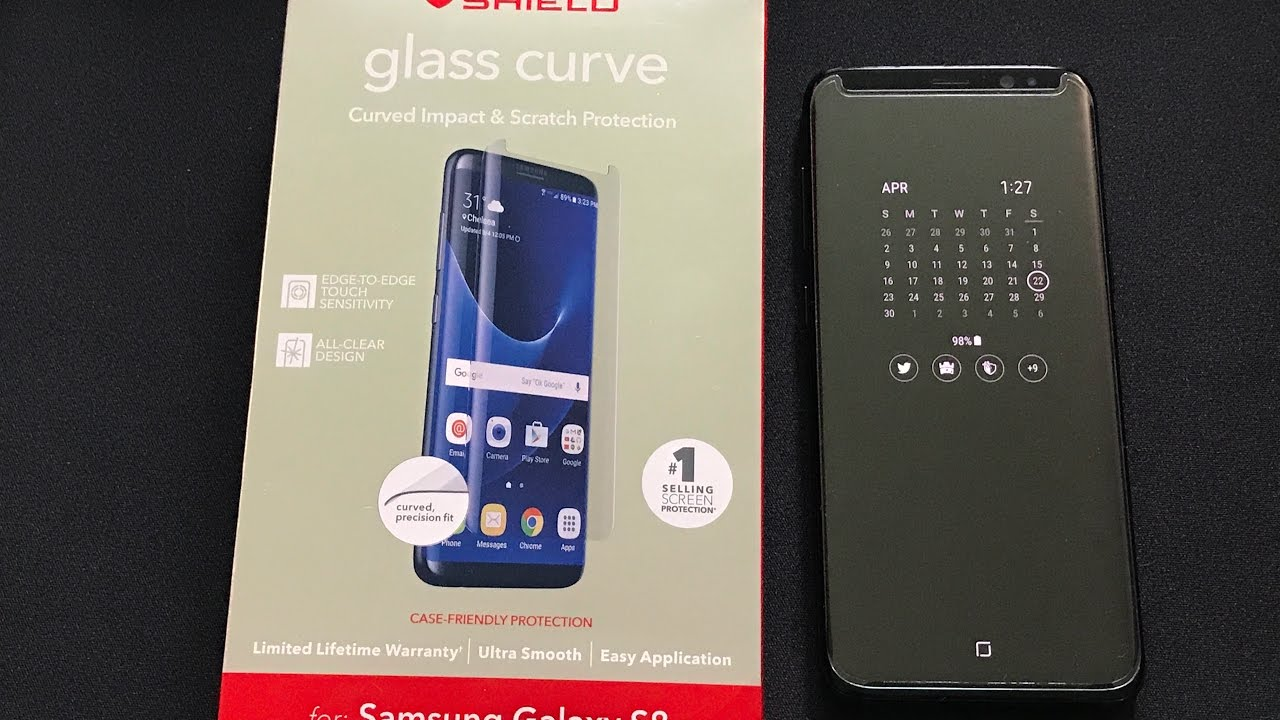 More invisibleshield samsung galaxy s8 plus sapphire screen protector July 2017 7:10