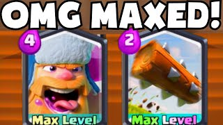 Clash Royale MAXED LEVEL LUMBERJACK/THE LOG | New Legendary Cards Update Gameplay/Strategy Deck Tips
