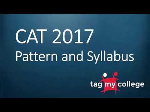 CAT 2017 Syllabus & Pattern | CAT 2017 | Tagmycollege.com