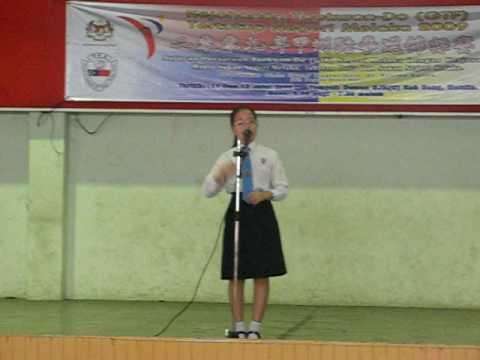 Sarah Jane Tey at selection rounds of Pertandingan Syarahan &Ujian Bertulis Peringkat Negeri 090714