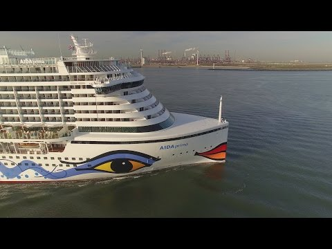 Aidaprima 2nd sea trial aida cruises cruise ship under construction