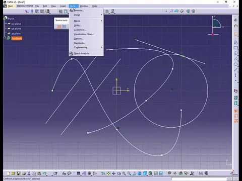 Catia V5 Snap To Point Youtube