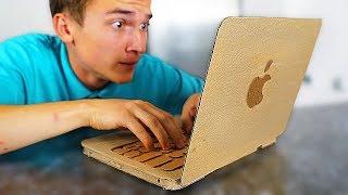 САМОДЕЛЬНЫЙ MacBook ! КАК СДЕЛАТЬ НОУТБУК ИЗ КАРТОНА ?!