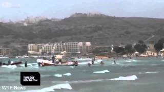 Parasailing Accident During Storm In Malta