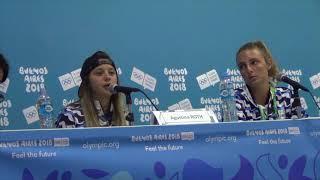 Agustina Roth, Sol Ordas, Conferencia de Prensa. Buenos Aires 2018