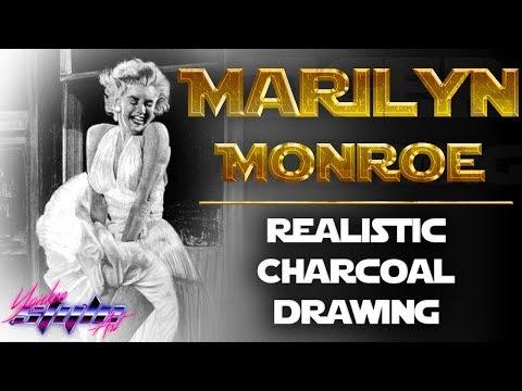 Watch me Draw: Marilyn Monroe White Dress Photorealistic ...