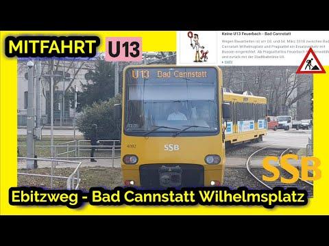 mitfahrt-|-u13-ebitzweg---bad-cannstatt-+-durchsage-streckenunterbrechung-u13⚠-(stadtbahn-stuttgart)