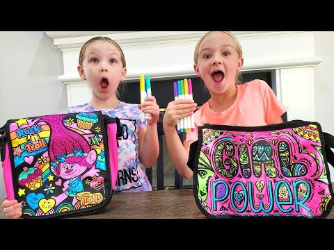 3 Marker Challenge Turns Into Scavenger Hunt!!! DIY Handbags!