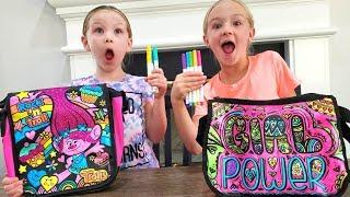 3 Marker Challenge Turns Into Scavenger Hunt!!! DIY Handbags!