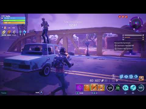 Fortnite : Enforcer Grizzly | Solo | Rescue The Survivers | PL 46