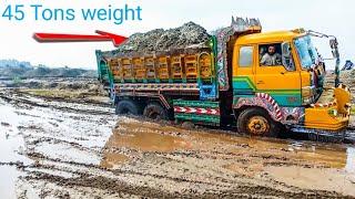 V8 truck dumper fail with full heavy load 2019.