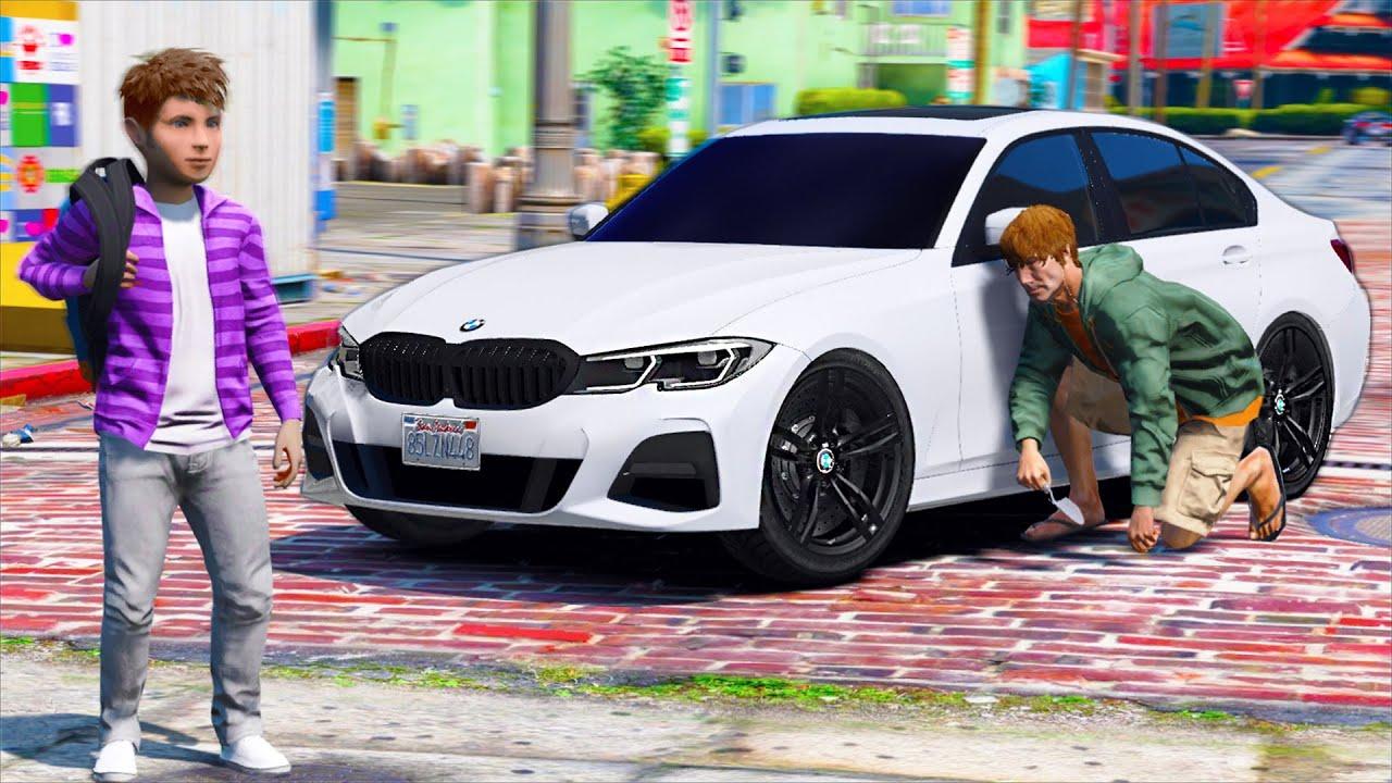 РЕАЛЬНАЯ ЖИЗНЬ В GTA 5 - ПРАНК НАД СЫНОМ! СПРЯТАЛ BMW 320d СВОЕГО СЫНА НА ПАРКОВКЕ ДОМА! 🌊ВОТЕР